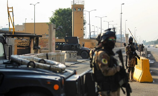 استهداف محيط السفارة الأميركية في بغداد بصاروخي كاتيوشا