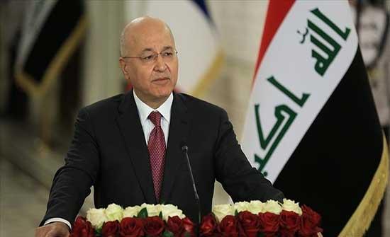 """وصفها بـ""""المصيرية"""".. رئيس العراق يدعو لضمان نزاهة الانتخابات"""
