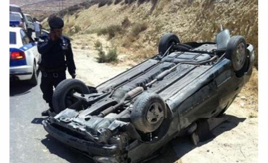 إصابة شخصين اثر حادث تدهور في العقبة
