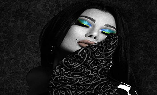 صور: فنان فلسطيني يمزج بين جمال الخط العربي وسحر النجمات دون قيود 