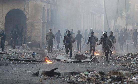 القوات العراقية: سنتصدى بحزم للمخربين خلال التظاهرات