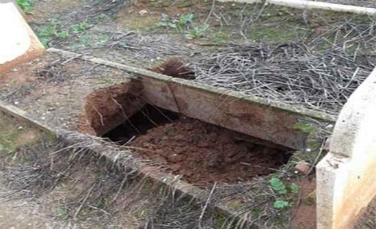 نبش 4 قبور في إربد واخراج الجثث منها