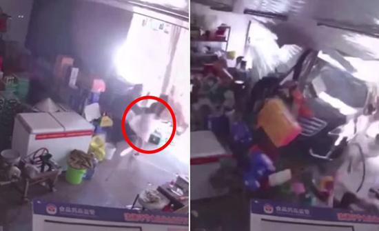 بالفيديو : شاهد كيف خاطَرَ أب بحياته لإنقاذ طفلته في الصين