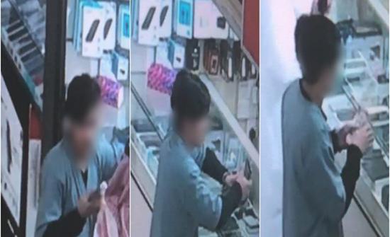 شاهد: لص يخدع صاحب محل هواتف بالرياض ويسرق أحد الأجهزة ويفر هارباً