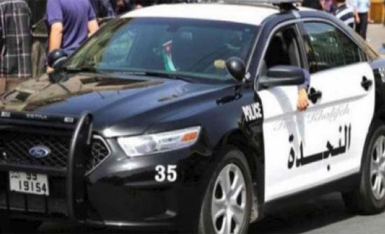 شرطة الكرك تعثر على عائلة سوريه ضلت طريقها بمنطقة صحراويه