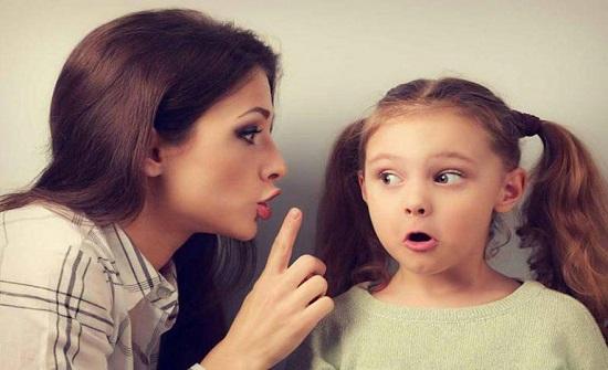 كلمات محددة لا تقوليها لطفلك