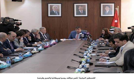 لجنة فلسطين النيابية تزور امانة عمان