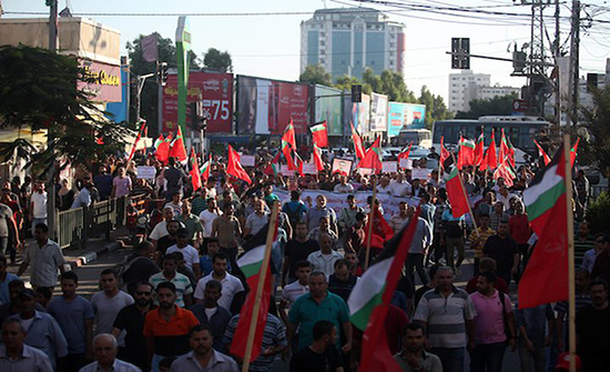 تظاهرة في غزة دعما للأسرى في سجون الاحتلال