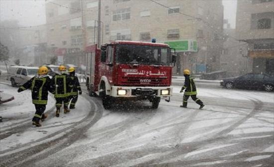 الدفاع المدني يبدأ بتنفيذ خطته لفصل الشتاء