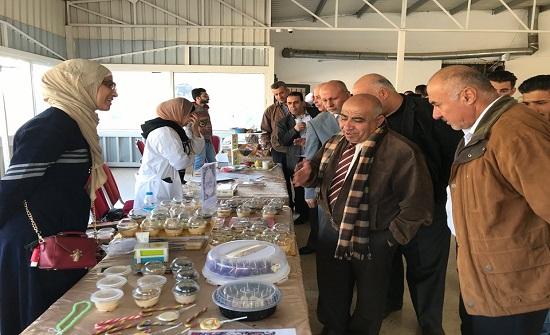 بازار تخفيضات خيري في جامعة إربد الأهلية بالتعاون مع جمعية نقطة تواصل