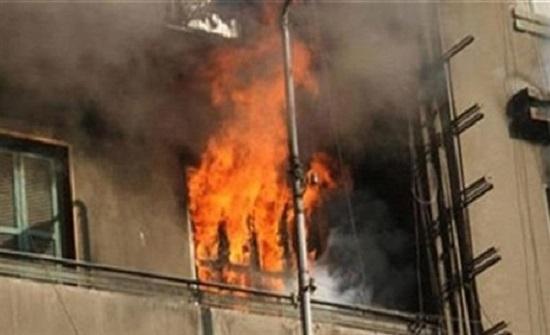 اخماد حريق مكتب داخل إحدى المجمعات التجارية في الزرقاء