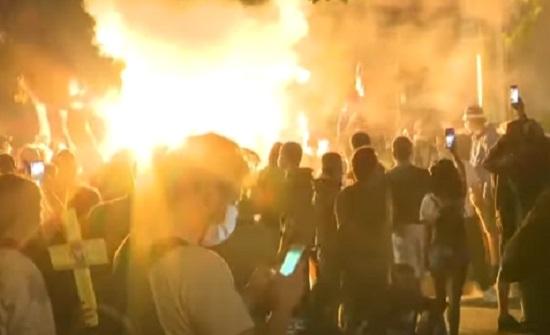 فيديو : ليلة ساخنة في صربيا