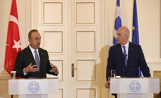 تشاووش أوغلو: توصلنا لتوافق مع اليونان حول عدة قضايا