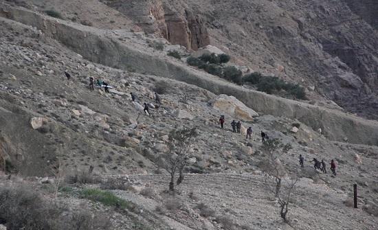 اصابتان اثر حادث سقوط من منحدر جبلي في الكرك