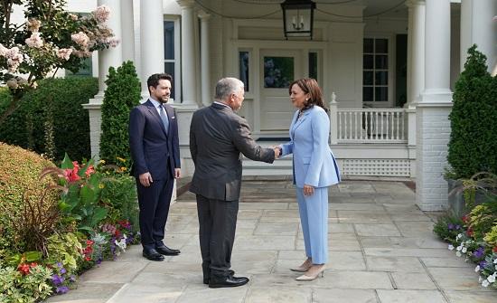 هاريس عن لقاء الملك : تعهدنا بمواصلة شراكتنا الاستراتيجية الوثيقة