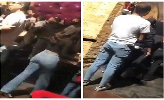 معركة شرسة.. صراخ وعويل لفتيات داخل ملهى ليلي بلبنان (فيديو)