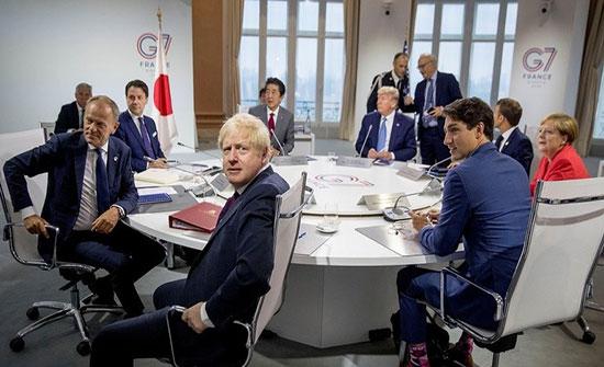"""زعماء G7 يتفقون على أنه """"من المبكر"""" عودة روسيا للمجموعة"""