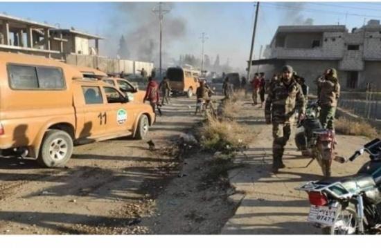 """مقتل 7 مدنيين بانفجار في """"رأس العين"""" شمال شرق سوريا"""