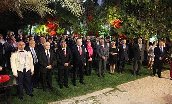 السفارة التركية تحتفل بعيد النصر والقوات المسلحة