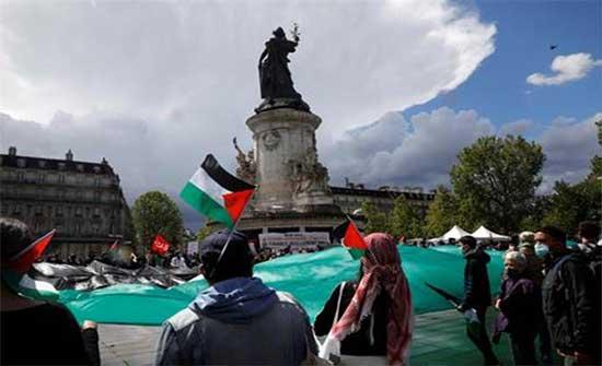 مظاهرات داعمة للفلسطينيين تعم العواصم والمدن الاوروبية