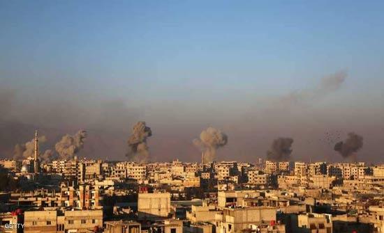 انفجارات ضخمة في الغوطة الشرقية