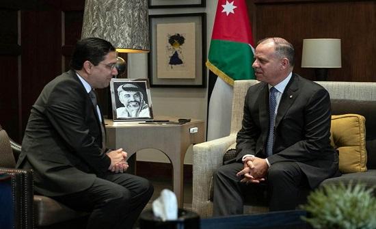 الأمير فيصل يستقبل وزير الشؤون الخارجية والتعاون الدولي المغربي