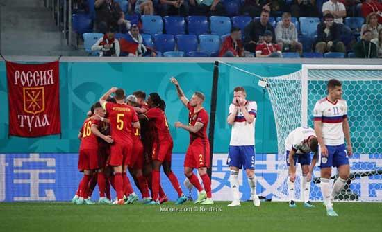 بالصور.. بلجيكا تدشن حملتها في اليورو بثلاثية أمام روسيا