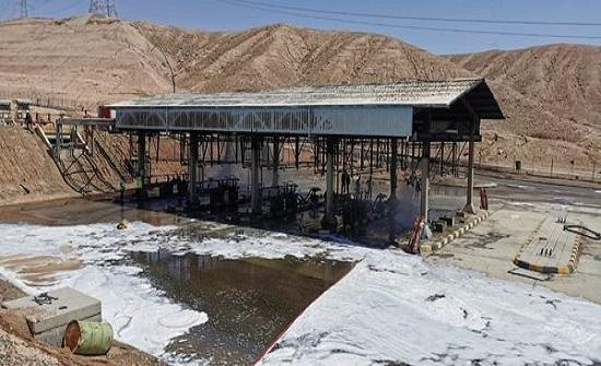 المصفاة: الحريق ناجم عن تسرّب للغاز في احدى منصات التحميل بالعقبة