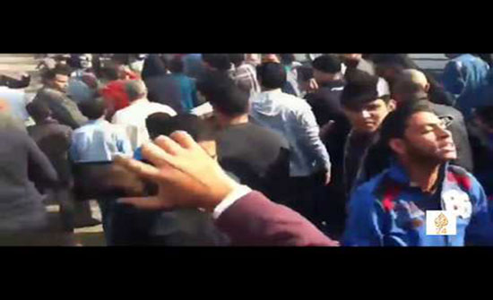 بالفيديو : مصر.. تظاهرة في مسقط رأس محمد مرسي عقب صلاة الغائب