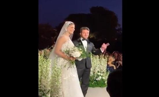 بالفيديو : زواج السيدة العنود ابنة حسين المجالي من الشاب صلاح ملص