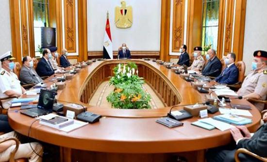 مجلس الدفاع الوطني المصري يبحث التطورات الليبية وملف سد النهضة