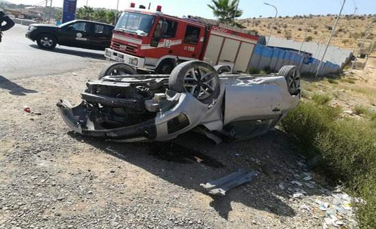 وفاة شخص اثر حادث تدهور مركبة في الكرك