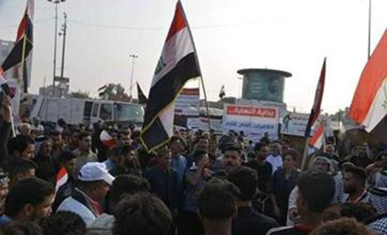 متظاهرون عراقيون يقطعون الطرق المؤدية لحقل مجنون النفطي