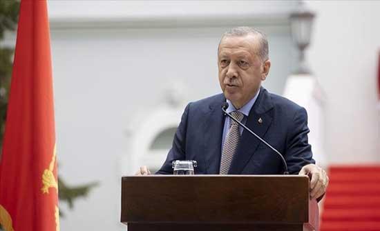 أردوغان يشيد بمساهمات تركيا والجبل الأسود لترسيخ السلام