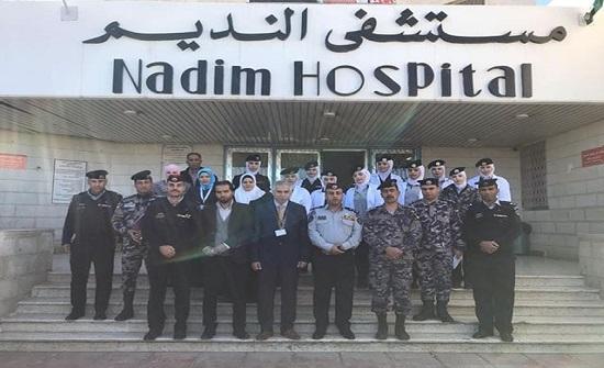دفاع مدني مأدبا ينفذ تطبيقا عمليا للمسعفات في مستشفى النديم