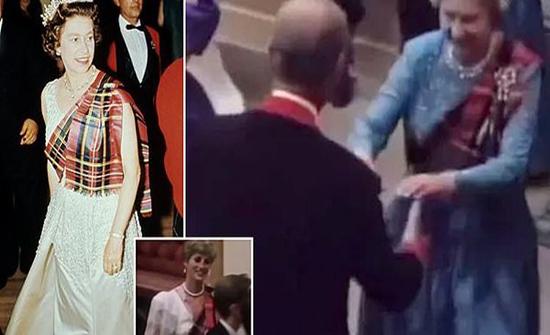 لأول مرة : فيديو تاريخي لملكة بريطانيا وهي ترقص مع تشارلز وديانا