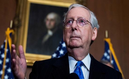 زعيم الأغلبية في مجلس الشيوخ الأمريكي يسقط خطة تحفيز من الحزبين بقيمة 900 مليار دولار
