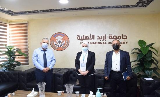 رئيس جامعة إربد الأهلية يلتقي وفدًا من منحة دافي