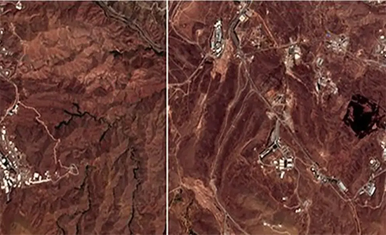 جديد الانفجار الغامض في إيران.. صور أقمار صناعية تكشف