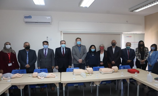 وزير الصحة يفتتح مركز تدريب الإنعاش القلبي