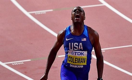 الأميركي كولمان بطلاً للعالم في سباق 100 متر