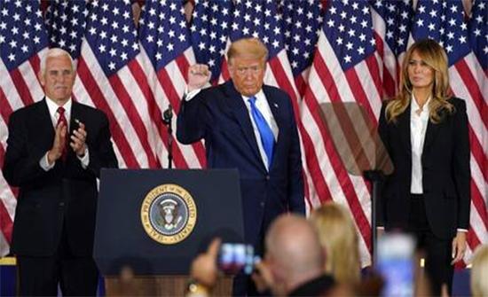 """ترامب متراجعا عن كلامه بشأن """"فوز بايدن"""": نحن من سيفوز!"""