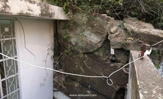 """لجنة فنية للوقوف على أسباب انهيار جدار استنادي في """"الجبيهة"""""""