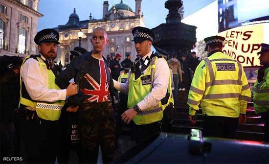 شغب واعتقالات في لندن بعد تعادل انجلترا واسكتلندا