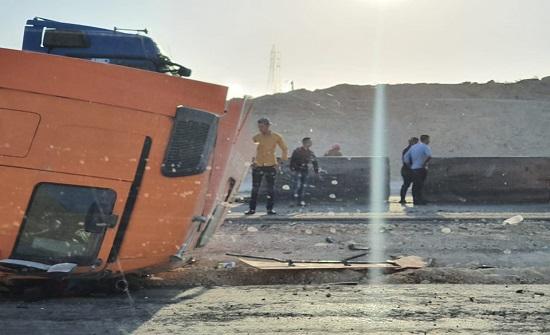 من جديد إصابة بحادث على الصحراوي