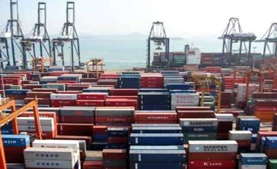 ارتفاع  الصادرات الوطنية خلال ثمانية اشهر 6%