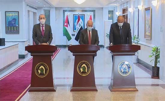 اجتماع وزراء الخارجية الثلاثي أكد على تعزيز مستوى التنسيق بين الأردن ومصر والعراق