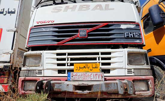 """جمعة : الشاحنات السورية تعاني من """"جابر"""" وتتجه إلى العراق"""