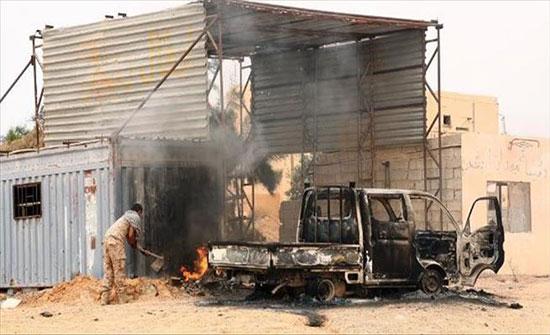 ليبيا.. انفجار مخزن ذخيرة بمقر كتيبة في سرت