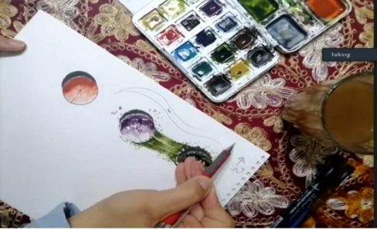 ورشة في هندسة عمان العربية حول الاظهار المعماري بالألوان